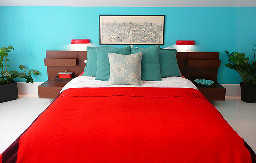 Teal And Red Bedroom Shapeyourminds